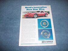 "1981 Weld Wheels Vintage Wire Wheel Ad ""Innovative New Star Wire"""