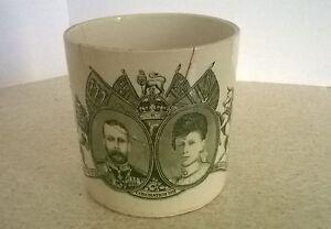 Repaired-vintage-China-mug-commemorating-the-Coronation-of-King-George-V-1911