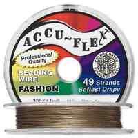 30' Accuflex Metallic Bronze 49 Strand .014in Accu-flex Beading Wire