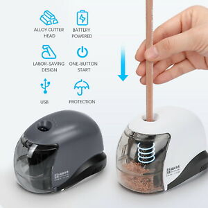 Automatic-Electric-Battery-Operated-Pencil-Sharpener-USB-Home-Desk-School-Office