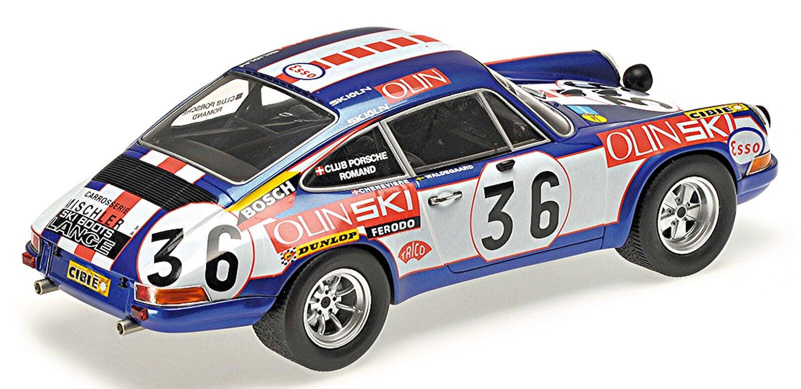 Porsche Ecurie 911 s Ecurie Porsche Jean sage 24h LEMANS 1971 #36 waldegard 1:18 MINICHAMPS 22296a