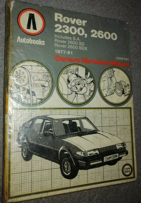 Book - Rover 2300 2600 - OWM 994