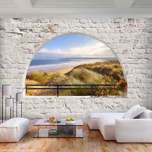 Vlies Fototapete Strand Fenster Steinwand Tapete Wohnzimmer