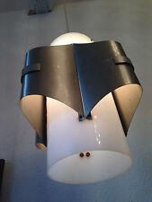 Rare light lamp Perspex Steel diseño lámpara Maison Charles france Max Sauze era