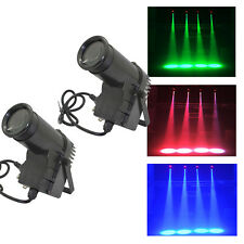 2x 20W RGBW LED Spot Stage Lighting DMX Pin Spot DJ Disco Bar Effect Lights Lamp