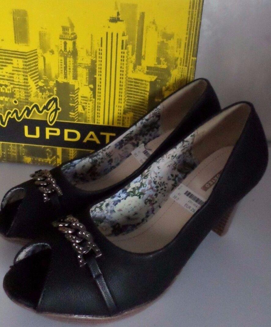 Damen Schuhe Pumps High Heels Plateausohle Schwarz Gr.38  NEU