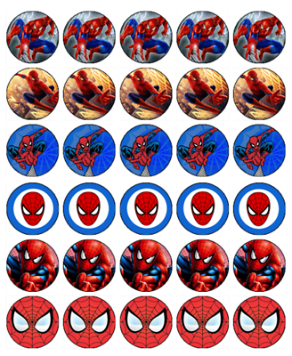 Awe Inspiring Spiderman 30 Edible Wafer Paper Cupcake Toppers Birthday Cake Funny Birthday Cards Online Unhofree Goldxyz