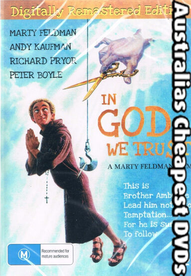 In God We Trust DVD NEW, FREE POSTAGE WITHIN AUSTRALIA REGION ALL