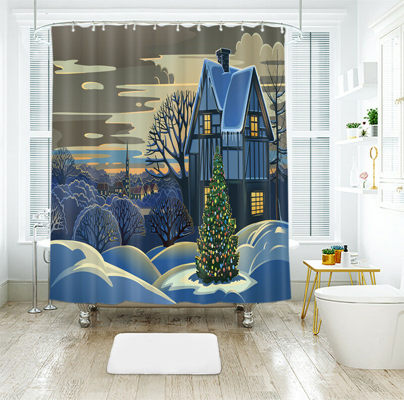 3D Weihnachten Xmas 32 Duschvorhang Duschvorhang Duschvorhang Wasserdicht Faser Bad Daheim Windows DE 38ff2b