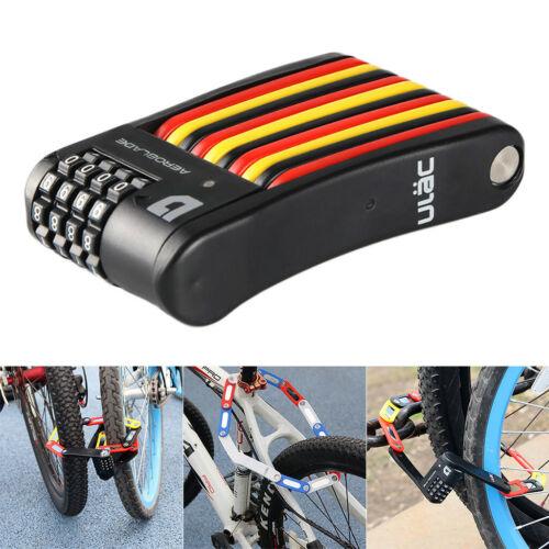 Road Bike Bicycle Motorcycle Security Folding Lock Anti-Theft Mini Password Lock