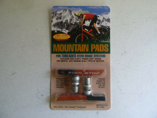 """threaded Kool Stop Mountain pads /""""power stop/"""" dual compound"""