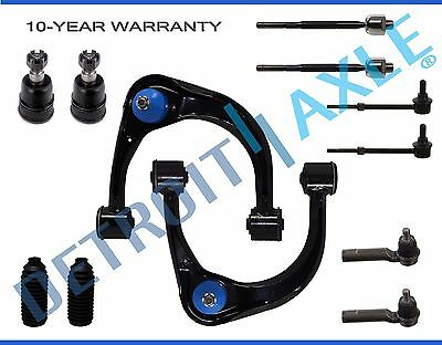 Detroit Axle Sway Bar and Inner Outer Tie Rod Kit for 2003 2004 2005 2006 2007 2008 2009 Lexus GX470// Toyota 4Runner 10PC Front Upper Lower Control Arm