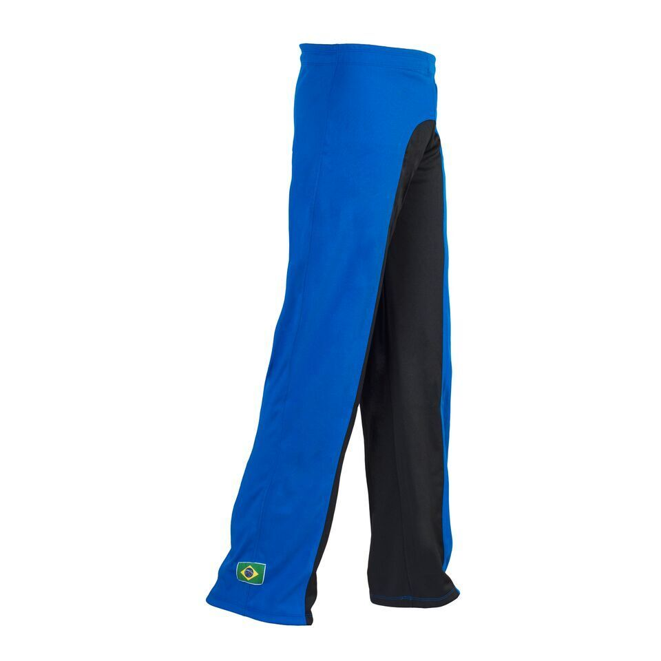 Unisexe Brazil Drapeau Noir Bleu Capoeira Martiaux Arts Martiaux Capoeira Élastique Sport Pantalon a41418