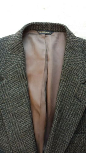 AUSTIN REED Men's Sz L DOGTOOTH TWEED  Blazer Chec