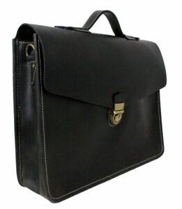 Herren-Leder-Aktentasche-Damen-Schultertasche-Laptop-15-6-Tasche-Umhaengetasche