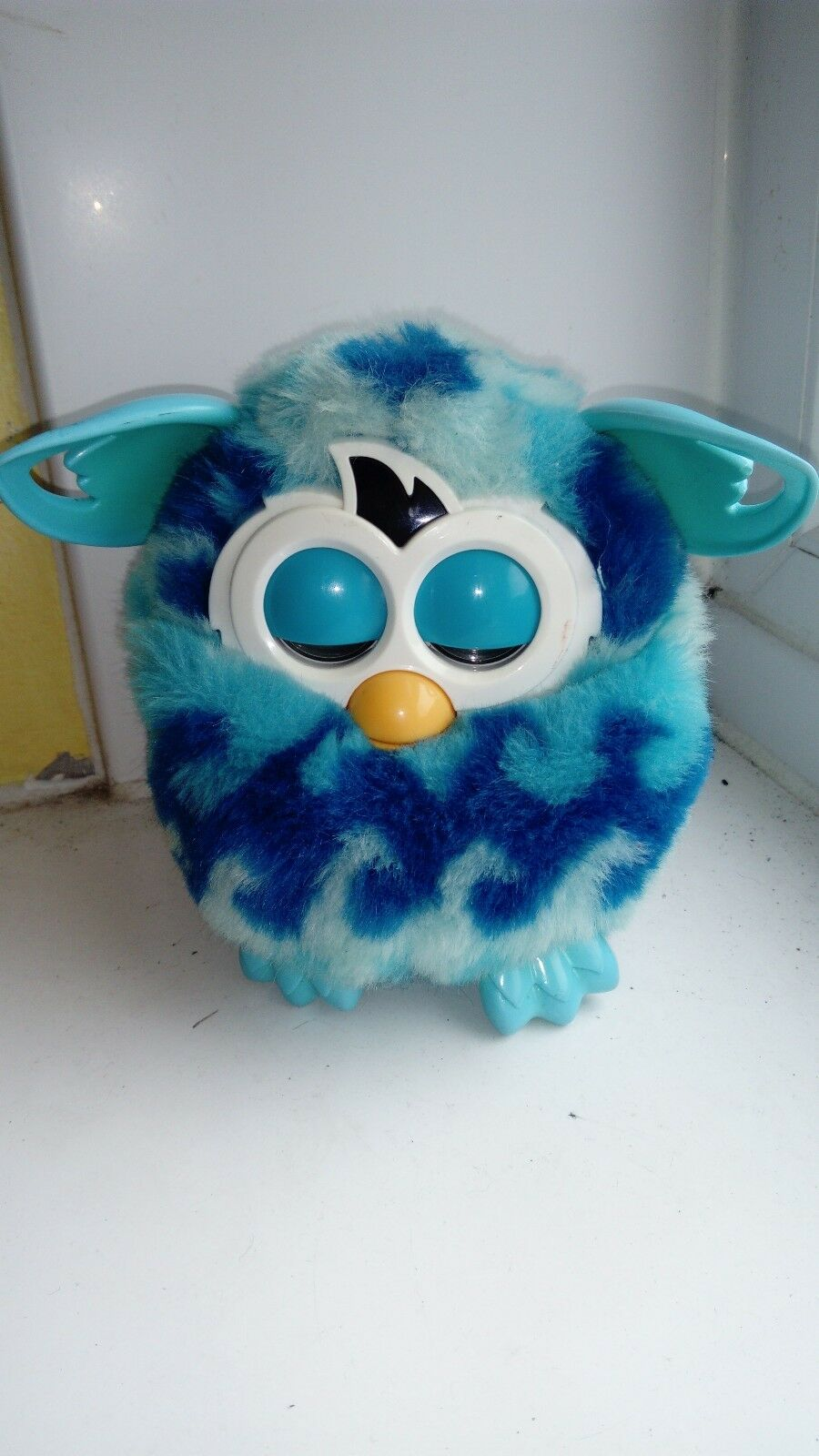 Furby Boom, Hardly used, bluee, Dark bluee pattern