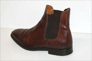 FINSBURY-Bottines-Boots-Tout-Cuir-Marron-Modele-CHELSEA-T-7-5-UK-41-TBE
