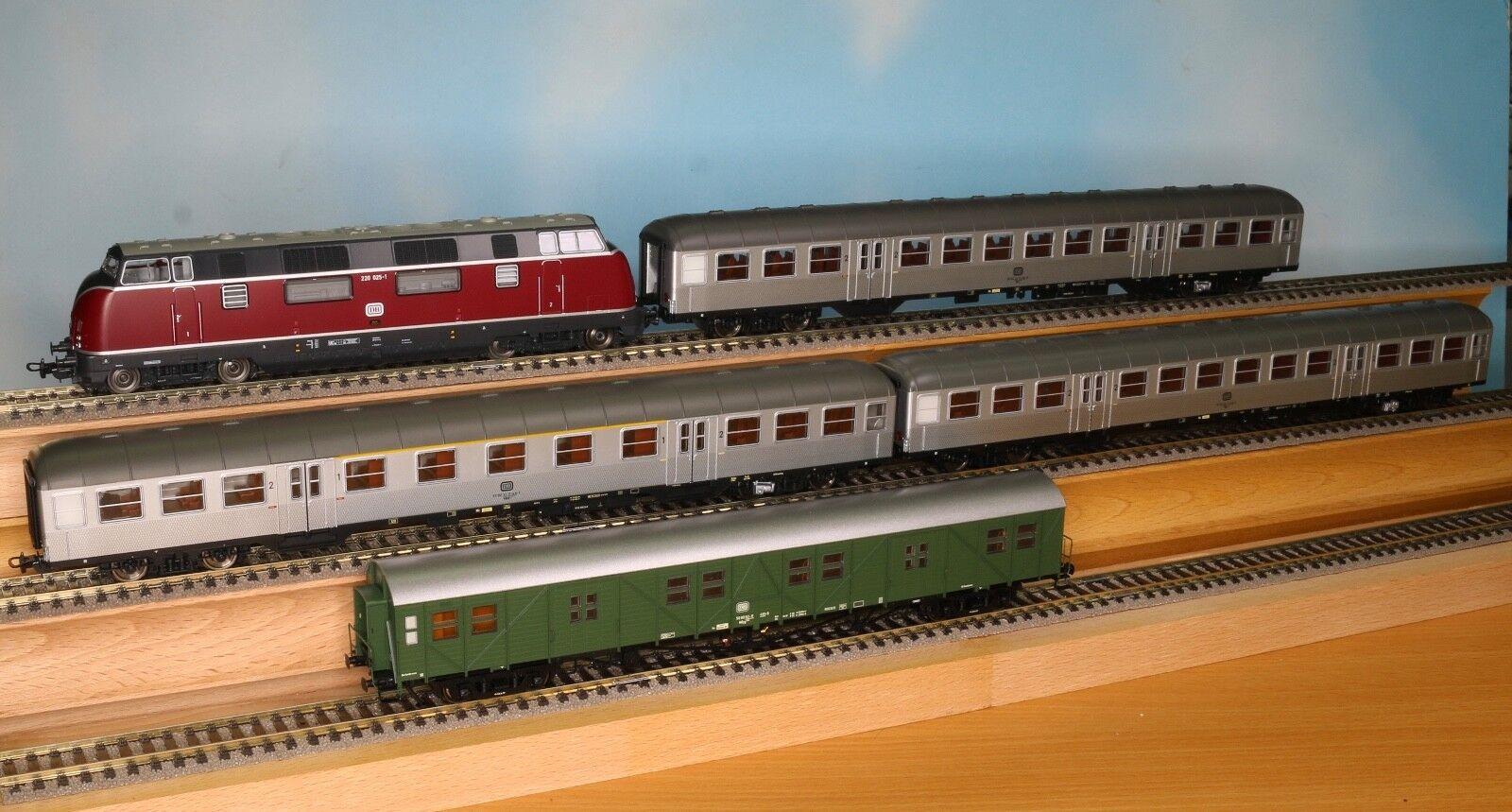 PIKO 59702, 57650, 57651, Brawa 46253, escala, tren H0 set de 5 piezas, EP 4, tren DC