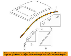 Honda oem 06 11 civic roof molding trim left 73168sna013 for 1993 honda civic window trim