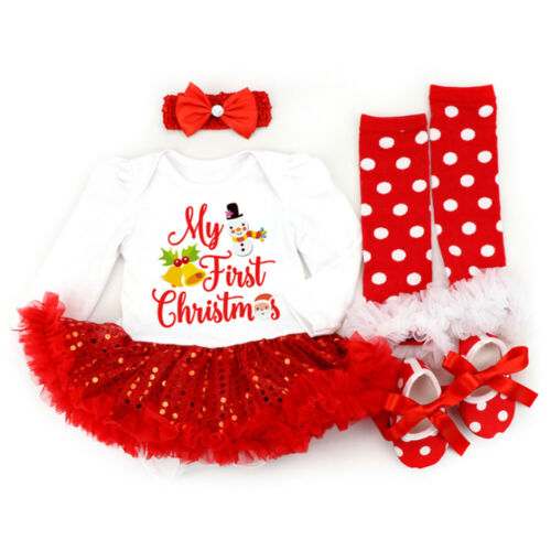 Outfit Clothes Details about  /Toddler Baby Girls Christmas  Long Sleeve Sets Costume Casual