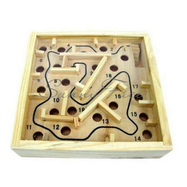 Classic Hot Selling Kids Children Wooden Labyrinth Brain IQ Toy Small Size