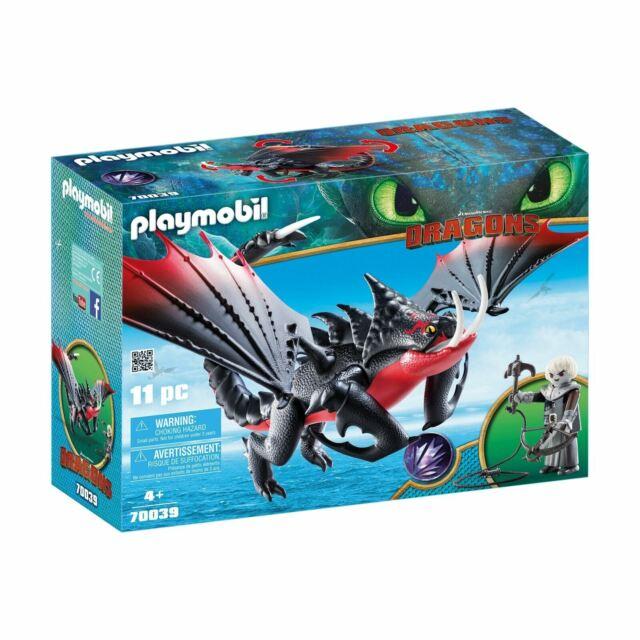 Playmobil 70039 DreamWorks Dragons Deathgripper with Grimmel Figure Set