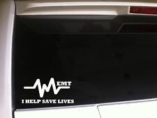 "EMT car decal vinyl sticker 6""C14 hospital rescue fireman emergency love medical"