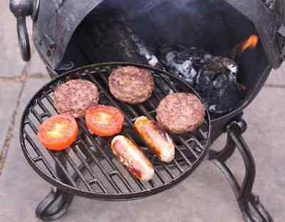 Swivel Cast Iron BBQ Grill Frying Pan Hot Plate For Chimenea 30cm Diameter
