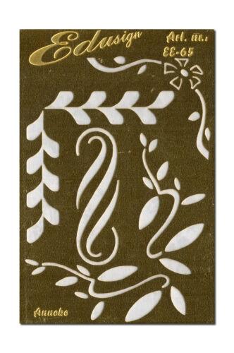 Prägeschablone Embossingschablone Schablone Metall Blätter /& Ornament EE-65