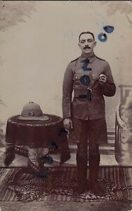 Details about WW1 Pte Somerset Light Infantry in India wears regimental  puggaree flash