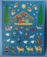 Vintage Christmas Nativity 37 Stickers 1 Sheet Mary Joseph Baby Jesus 3 Kings