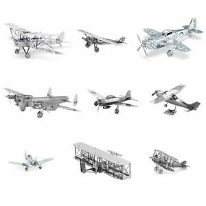 Fascinations-Metal-Earth-Collectible-3D-Laser-Cut-Steel-9-Planes-DIY-Model-Kits