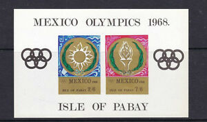 Isla de pabay 1968 México Olimpiadas 10/hoja estampillada sin montar o nunca montada-Imperforado En Miniatura