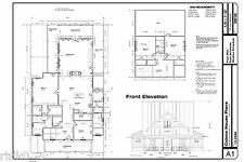 Custom Home House Plan 2,585 SF CAD/DWG and PDF of Plans