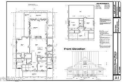 DWG CAD File and PDF for Custom Home House Plan 2,505 SF Blueprint Plans