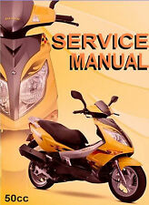 Chinese Scooter 50cc GY6 Service Repair Shop Manual on CD VIP Peace Sports Sanli