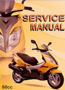 chinese scooter 50cc gy6 service repair shop manual on cd wildfire rh ebay com Hyosung Scooter Manual Qingqi Scooter Manual