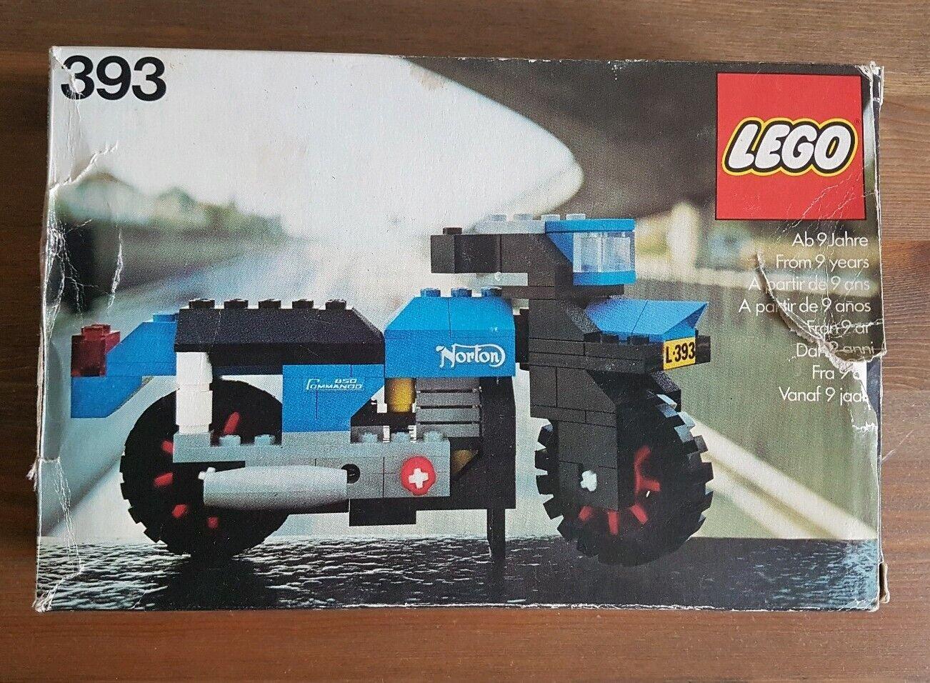 Lego 393 Norton Commando nouveau dans neuf dans sa boîte scellée 1976 Moto RARE investissement