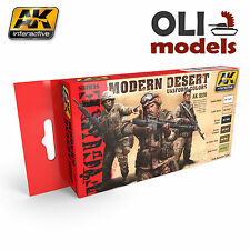 Figure Series MODERN DESERT UNIFORM Colors Set 6x17ml - AK Interactive 3220
