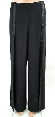 SANDRA DARREN NWT Layered Chiffon Black Formal Dress Pants Ruffle Trim Sz 10 $80