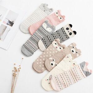 Lovely Soft Women Socks Cute 3D Cartoon Animal Cotton Warm Ladies Girls Sox New
