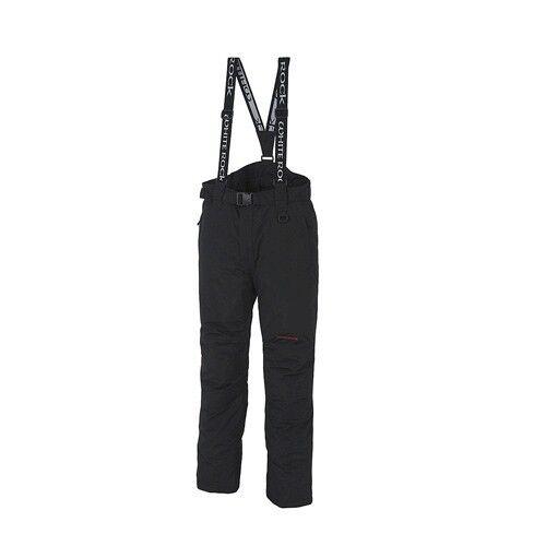 XXL #981A White Rock Mens Black Megastorm RECCO Waterproof Ski Pants Salopettes