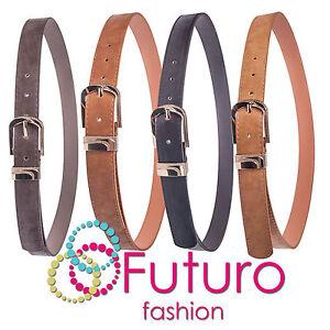 Cintura-con-metallo-color-oro-fibbia-similpelle-donna-cintura-taglia-8-14-sb691
