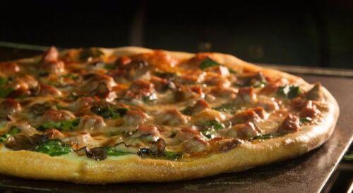 "17/"" x 22/"" x 1//2/"" Thick 1//2/"" Steel Pizza Baking Plate Seasoned!"