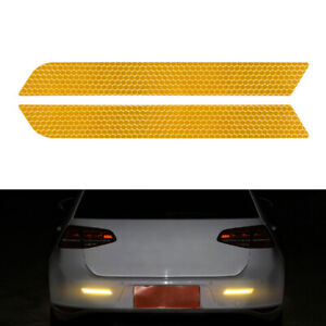 Reflective Warning Strip Tape Car Bumper Reflector Stickers Decals Safety HOT