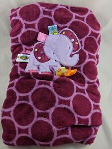 Taggies-Purple-Elephant-Baby-Blanket-30-034-x-40-034