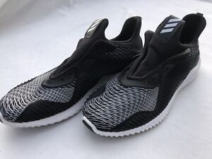 Adidas 👟 Alphabounce Mens Running Sneakers Shoes BW pattern Size 11.5 NO LACES