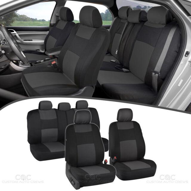 Full Set Car Seat Covers Premium Double Stitching W Split Bench
