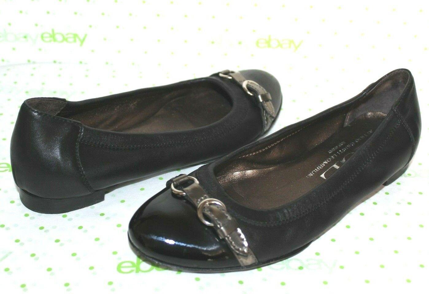 AGL Attilio Giusti Leombruni Cap-Toe Leather Flats 5.5 35.5  GREAT L@@K 06