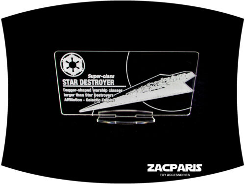etc Clear Acrylic! DISPLAY PLAQUE for Lego 10221 Super Star Destroyer Models